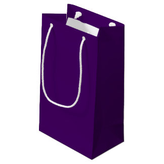 Only purple deep cool solid color OSCB15 Small Gift Bag