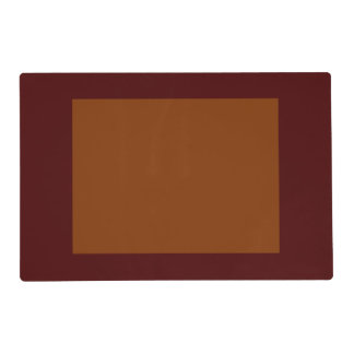 Only Red brick rust panel solid color Laminated Placemat