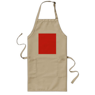 Only red crimson cool solid color background long apron