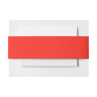 Only red tomato modern solid color OSCB35 Invitation Belly Band