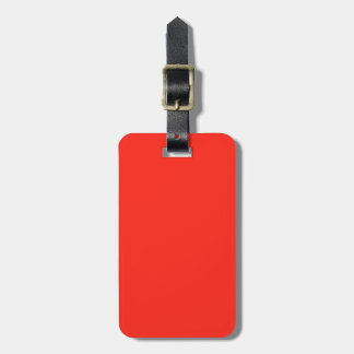 Only red tomato rustic solid OSCB35 colour Luggage Tag