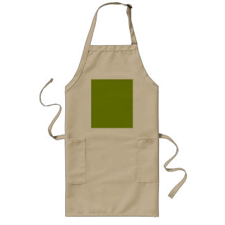 Only solid color cool apple green background long apron