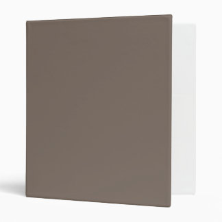 Only Taupe gorgeous solid color background 3 Ring Binder
