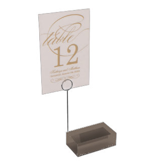 Only taupe gorgeous solid color with ivy border place card holder
