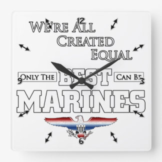 Only The Best Are Marines Square Wall Clock