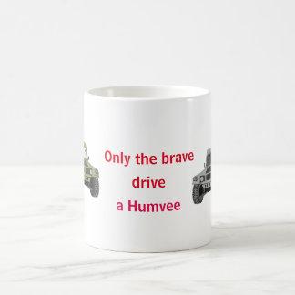 Only the brave drive a Humvee mug