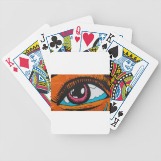 Only the eyes can tell poker deck