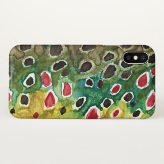 Only the Skin of the Beautiful Brown Trout iPhone X Case