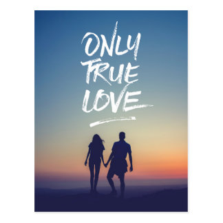 Only True Love Quote Typography Photo Template Postcard