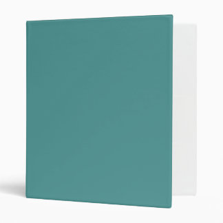 Only turquoise cool dark cyan solid color OSCB42 Binders