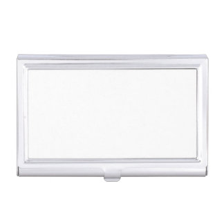 Only white modern solid OSCB26 background Business Card Holder