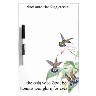 Only Wise God Hummingbird Birds Dry Erase Board