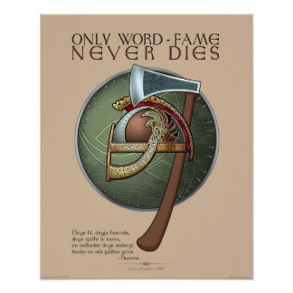 """""""Only Word-Fame Never Dies"""" Poster (16x20"""")"""