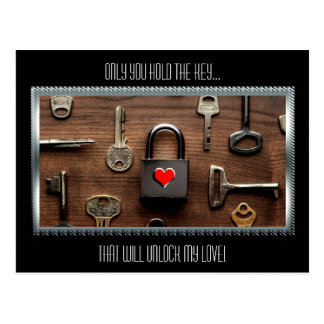 Only You Hold The Key...That Will Unlock My Love Postcard