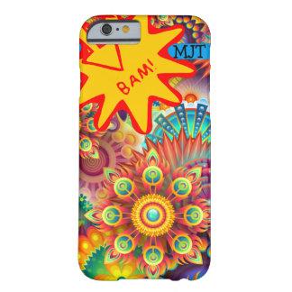 Onomatopoeia poof, bam thinking fireworks barely there iPhone 6 case