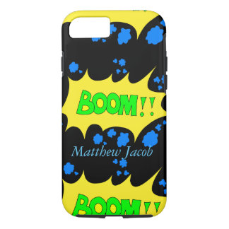 Onomatopoeia word boom thinking loud noise iPhone 7 case