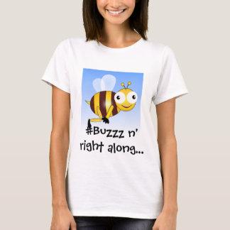 Onomatopoeia word buzzz, noise for bees T-Shirt
