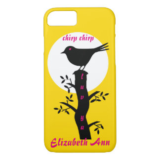 Onomatopoeia word chirp thinking bird iPhone 7 case