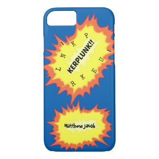 Onomatopoeia word kerplunk thinking comic action iPhone 7 case