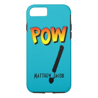 Onomatopoeia word POW thinking action iPhone 7 Case