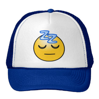 Onomatopoeia zzZZ sleepy, relaxation thinking Trucker Hat