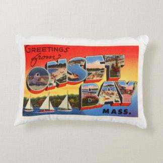Onset Bay Massachusetts MA Vintage Travel Souvenir Decorative Pillow