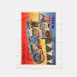 Onset Bay Massachusetts MA Vintage Travel Souvenir Fleece Blanket