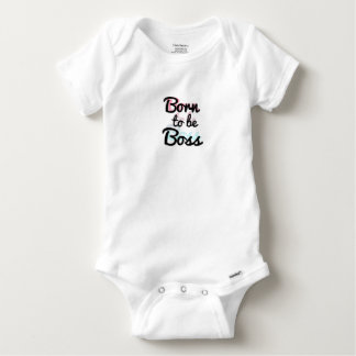 "Onsie ""Born to be Boss"" 2 Layer color Baby Onesie"