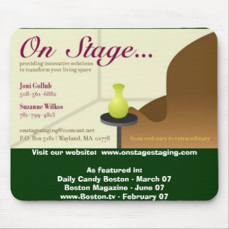 onstagecard_final, Visit our website:  www.onst... Mouse Pad