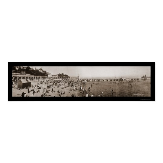 Ontario Canada Bathing Photo 1911 Poster