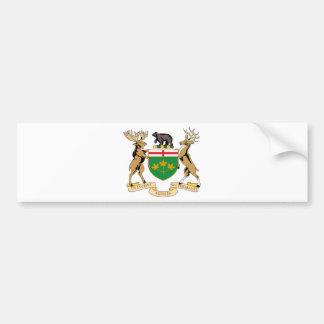 Ontario (Canada) Coat of Arms Bumper Sticker