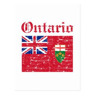 Ontario Canada Flag design Postcard