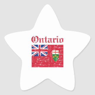 Ontario Canada Flag design Star Sticker