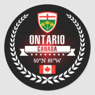 Ontario Classic Round Sticker