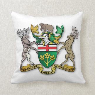 Ontario coat of arms throw pillow