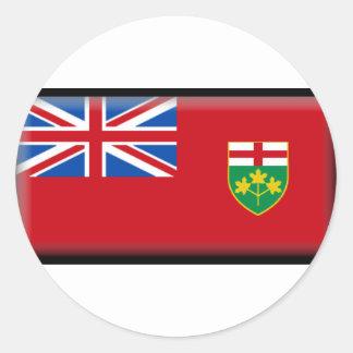 Ontario Flag Classic Round Sticker