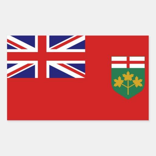 Ontario Flag Rectangular Stickers