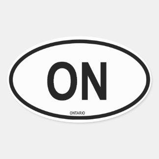 """Ontario """"ON"""" Oval Sticker"""