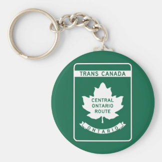 Ontario, Trans-Canada Highway Sign Basic Round Button Keychain