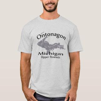 Ontonagon Michigan Map Design T-shirt