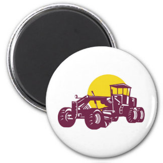 ontruction road grader fridge magnets