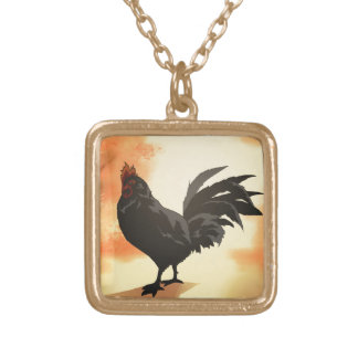 Onward - Rooster Gold Plated Necklace