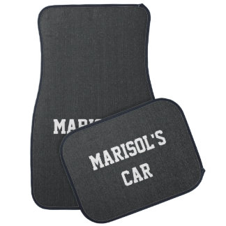 Onyx Exclusive Colorful Name Car Carpet