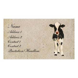Onyx & Ivory Cow Business Card/Tags