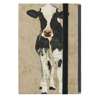 Onyx & Pearl Cow  iPad Case