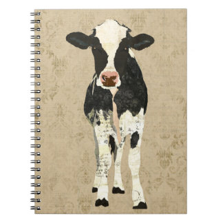 Onyx Pearl Cow Notebook