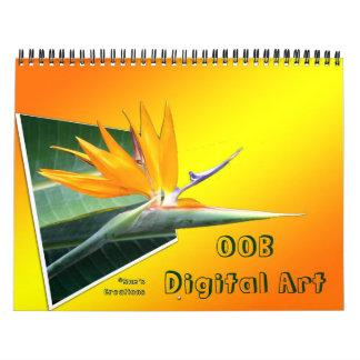 OOB 3D Digital Art Wall Calendars