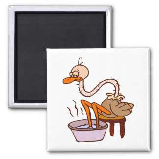 Oogie Ostrich Square Magnet