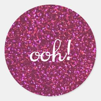 Ooh! Faux pink glitter sticker