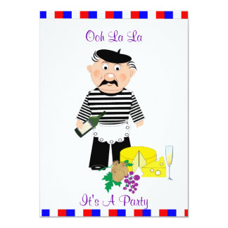 Ooh La La It's A French Themed Party Night Card